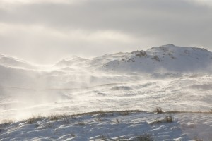 Arctic conditions on Wansfell, Lake District, UK.