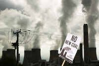 Ratcliffe-on-Soar-Nottinghamshire-UK-England-power-station-energ;protest;protesting;sign;banner;placard;global-warming;stop;no;new-coal