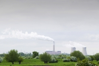 Nottinghamshire-UK;England;power-station;energy;electricity;power-generation;cooling-tower;industrial;industrialized;electricity-generation;carbon-footprint;carbon-emmissions;emmissions;climate-change;global-warming;coal;coal-fired;fossil-fuel;dirty;smoke;water-vapour;power-plant;old-fashioned;out-dated;energy-supply;energy-security;pollution;polluting;dirty;cloud;sky;grey;climate-criminal;atmosphere;icon;iconic;grey;pall;smoke;chimney;smoke;smoking;smoke-stack;spring;hawthorn;blossom;may-blossom;river;water;countryside;climate-chanhe;global-warming;emissions;Cottam;Cottam-power-station
