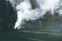 Kendal;Cumbria;UK;garden;gardening;garden-waste;fire;bonfire;autumn;smoke;smoke-cloud;air-quality;air-pollution;pollution