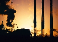 petrochemical;works;industry;heavy-industry;Teeside;UK;industry;industrial;industrial-complex;chimney;emmissions;emitting;pollution;C02;carbon-dioxide;greenhouse-gas;climate-criminal;environment;smoke;steam;smoke-stack;sky;sunrise;dawn;steel;polluting;dnagerous;cost;implications;global-warming;heating;heating-up;warming