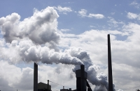 coal;fossil-fuel;emissions;C02;carbon-emissions;dirty;industry;heavy-industry;Bluescope;steel;steel-works;Kembla;Port-Kembla;Wollongong;New-South-Wales;Australia;smoke;smoke-stack;chimney;pollution;polluted;air-quality;air-quality;heavy-industry;industry;industrial