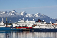 Ushuaia;Tierra-del-Fuego;Argentina;Patagonia;South-America;Austral;town;South;southerly;red;tourism;Isla-Grande-de-Tierra-del-Fuego;Beagle-Channel;Martial-Mountain-Range;travel;hut;tourist-attraction;tour-company;sales;widlife;wildlife-tour;bird;bird-watching;boat;boat-trip;coast;tourist-trip;tourist-excursion;excursion;ship;boat;cruise;cruise-liner;expedition;expedition-cruise;Antarctic;Antarctica;Antarctic-tourism