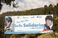 river;water;water-supply;La-Paz;bolivia;South-America;water-shortage;sign;drinking-water;water-security;advert;Evo-Morales;president