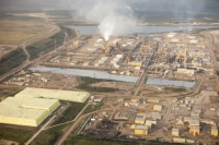 tar-sand;tar-sands;oil-sand;oil-sands;oil-industry;fossil-fuel;climate-change;global-warming;industry;heavy-industry;industrial;Athabasca;Alberta;Canada;destruction;pollution;contamination;contaminated;strip-mining;Fort-McMurray;sky;environment;environmental-destruction;carbon-footprint;statement;affected;Boreal-Forest;toxic;oil;bitumen;deposits;oil-reserves;emissions;carbon-footprint;energy;aerial;aerial-photograph;yellow;sulpher;sulpher-mountain;chemical;reserves;store
