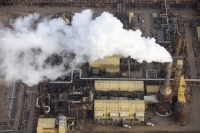 tar-sand;tar-sands;oil-sand;oil-sands;oil-industry;fossil-fuel;climate-change;global-warming;industry;heavy-industry;industrial;Athabasca;Alberta;Canada;destruction;pollution;contamination;contaminated;strip-mining;Fort-McMurray;sky;environment;environmental-destruction;carbon-footprint;statement;affected;Boreal-Forest;toxic;oil;bitumen;deposits;oil-reserves;emissions;carbon-footprint;energy;aerial;aerial-photograph;smoke;emissions;chimney;C02;smoke-stack;air-pollution;Syncrude