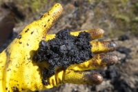 tar-sand;tar-sands;oil-sand;oil-sands;oil-industry;fossil-fuel;climate-change;global-warming;industry;heavy-industry;industrial;Athabasca;Alberta;Canada;destruction;pollution;contamination;contaminated;strip-mining;Fort-McMurray;sky;environment;environmental-destruction;carbon-footprint;statement;affected;Boreal-Forest;toxic;oil;bitumen;deposits;oil-reserves;emissions;carbon-footprint;energy;yellow;rubber-glove;deposit