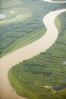 Athabasca;Alberta;Canada;Fort-McMurray;environment;Boreal-Forest;tree;woodland;carbon-sink;conifer;spruce;habitat;woodland;green;forest;river;water;curve;bend;sinuous;meander;meandering;aerial;aerial-photograph
