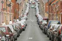 car;car-culture;parking;crowded;Lancashire;Blackburn;UK;muslim;asian;housing;terraced;terraced-house;street;road;on-road-parking;car-use;car-dependency;pollution;carbon-footprint
