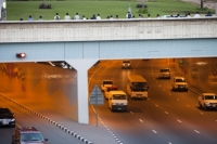Dubai;Middle-East;arabic;road;highway;car;car-culture;lane;gas-guzzlers;climate-change;global-warming;pollution;travel;transport;exhaust;carbon-footprint;C02;emmissions;rush-hour;busy;tunnel;underpass