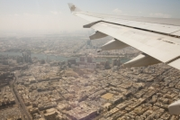flight;flying;plane;airplane;aviation;coast;coastline;sea;Persian-Gulf;UAE;Dubai;city;development;urban;construction