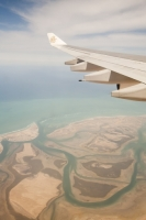 flight;flying;plane;airplane;aviation;coast;coastline;sea;Persian-Gulf;UAE;Dubai;island;estuary;coastal;green;blue;sky