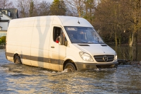 Floods;flooding;flooded;Ambleside;Cumbria;Lake-District;UK;weather;extreme-weather;climate-change;global-warming;deluge;torrential-rain;downpour;meteorology;low-pressure;weather-front;rain;raining;heavy-rain;precipitation;wet;sodden;Wateredge;surrounded;marooned;insuramnce;insurance-claim;Lakeside;van;vehicle;white-van;white-van-man;driving-conditions
