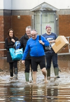 Floods;flooding;flooded;Cumbria;Carlisle;UK;weather;extreme-weather;climate-change;global-warming;deluge;heavy-rain;wet;sodden;flood-water;flood-waters;draining;aftermath;Storm-Desmond;cost;insurance;insurance-claim;flood-damage;Warwick-Road;Rugby-Club;stand;flooded-pitch;low-lying;wade;wading;irony;ironic;carry;carrying
