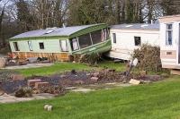 Bolton;Applegy;Cumbria;UK;farm;caravan;static-caravan;caravan-park;holiday-park;aluminium;flood;flooding;flood-damage;River-Eden;extreme-weather;Storm-Desmond;climate-change;global-warming;destruction;swept-away;damage;insurance;loss;power;powerful;insurance-claim;crushed;flattened;belongings