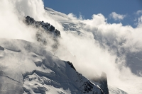 Chamonix;france;Alps;French-Alps;mountain;summit;Aiguille-Du-Midi;cable-car-station;cloud;mist;Mont-Blanc;glacier;crevasse;glacial-retreat;Glacier;climate-change;serac;global-warming;receding;retreating;snow;snow-pack;slope;steep;permafrost;permafrost-melt;cloudy;fog;foggy;misty;hole;window;vista;view;Mont-Blanc-Du-Tacul;revealed;crevasse;Vallee-blanche;remote;altitude;explore;Mont-Blanc-summit
