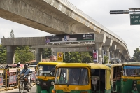 Bangalore;India;Asia;construction;building;economy;boom;booming;transport;green-transport;railway;train;Metro;investment;investing;growth;Tiger-economy;infrastructure;fly-over;concrete;public-transport;tuctuc;taxi;fly-over;raised;traffic-jam;traffic-congestion;rush-hour