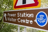 Scotland;Scottish-Power;UK;renewable;renewable-energy;Hydro-Hydro-power;HEP;Cruachan;Cruachan-Power-Station;electricty;green;carbon-neutral;climate-change;global-warming;low-carbon;electric;visitor-centre;road-sign