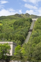 Scotland;Scottish-Power;UK;renewable;renewable-energy;Hydro-Hydro-power;HEP;Power-Station;electricty;green;carbon-neutral;climate-change;global-warming;low-carbon;electric;pipe;hydro-pipe;pipeline;slope;drop;head;gravity;mountain;peak;Loch-Lomond;Sloy;power-plant;electricity;hydro-electric;green;woodland;forest;tree