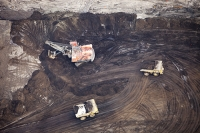 tar-sand;tar-sands;oil-sand;oil-sands;oil-industry;fossil-fuel;climate-change;global-warming;industry;heavy-industry;industrial;Athabasca;Alberta;Canada;destruction;pollution;contamination;contaminated;strip-mining;Fort-McMurray;sky;environment;environmental-destruction;carbon-footprint;statement;affected;Boreal-Forest;toxic;oil;bitumen;deposits;oil-reserves;emissions;carbon-footprint;energy;aerial;aerial-photograph;soil;overburden;bucket-wheel;mining;mine;dump-truck