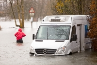 weather;extreme-weather;environment;rain;rainfall;exceptional;global-warming;deluge;climate-change;Cumbria;Lake-District;flood;flooding;flood-damage;destruction;water;water-power;river;Windermere;Ambleside;flood-damage;Waterhead;flood-water;road;travel;transport;disruption;van;abandoned;trapped;washed-away
