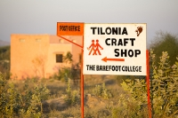 Tilonia;Rajasthan;India;solar;solar-power;solar-panel;solar-energy;climate-change;global-warming;carbon-neutral;clean;green;renewable;renewable-energy;progress;energy;power;empower;empowerment;NGO;charity;Barefoot-College;Bunker-Roy;technology;low-impact;carbon-footprint;carbon-offset;efficient;third-world;education;rural;remote;campus;Asian;Asia;clothes;learning;education;landscape;post-office;craft-shop;crafts
