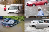 weather;extreme-weather;flood;flooding;flooded;climate-change;global-warming;river;water;car;van;stuck;abandoned;insurance;write-off