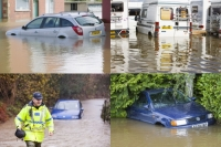 weather;extreme-weather;flood;flooding;flooded;climate-change;global-warming;river;water;car;van;stuck;abandoned;insurance;write-off;police