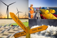 post;sign;signpost;way;direction;renewable;renewable-energy;clean;green;carbon-neutral;climate-change;global-warming;solar;solar-power;solar-power-station;solar-panel;Spain;HEP;hydro;wind;wind-power;wind-farm;wind-turbine;turine;electricity;energy;power;wave-power;wave-energy