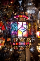 Marrakech;Morocco;North-Africa;Souk;shop;Arabic;islamic;commerce;retail;tourism;color;colorful;colour;colourful;red;yellow;green;blue;light;lighting;lamp;glass;copper;art;Muslim;Islamic;Islamic-art;Berber;Berber-art;Moroccan