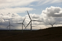 Scotland;Lanarkshire;climate-change;global-warming;energy;power;renewable-energy;clean-energy;carbon-neutral;wind-power;wind-farm;wind-turbine;carbon-footprint;moorland;sky;blue;cloud;Whitelee;Whitelee-windfarm;Eaglesham;Eaglesham-moor;sustainable;sustainability;large;MW;megawatt;output;energy-needs;energy-production;electricity-production;rotor;turbine;nacelle;Scottish-Power;energy-company;investment;green-investment