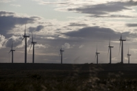 Black-Law;Black-Law-wind-farm;wind-farm;wind-turbine;wind-energy;renewable-energy;electricity;generation;moor;moorland;open-cast-coal-mine;large;turbine;climate-change;global-warming;sky;cloud;windy;wind;Scottish-Power