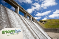 New-South-Wales;Australia;Snowy-Mountains;HEP-hydro-electric;water;water-power;hydro-scheme;power-station;energy;electricity;generation;turbine;green;environment;carbon-neutral;renewable-energy;Murray;power-station;orange;turbine-hall;dam;reservoir;water;Guthega;cascade;logo;company;Snowy-Hydro;sign