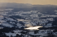 snow;cold;winter;freeze;winter;weather;covering;Ambleside;Lake-District;Cumbria;UK;National-Park;Red-Screes;hill;mountain;fell;steep;slope;field;hill-farm;lake;Windermere;tarn;Blelham-Tarn;Hawkshead;Ambleside;conutryside;landscape;water;reflection;cloud;weather;sky;covering;hill;undulating;lake-shore