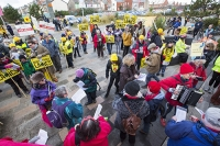fracking;shale-gas;Blackpool;Lancashire;UK;protest;fossil-fuel;climate-change;global-warming;banner;placard;concern;environment;environmentalist;yellow;colourful;gas;energy;energy-policy;planning;planning-application;planning-appeal;Cuadrilla;David-and-Goliath;battle;localism;democracy;person;man;woman;concerned;green;accordian;music