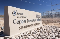 150-megawatt-MW;USA;US;America;Nevada;desert;electricity;generating;renewable;renewable-energy;solar;solar-power;solar-panel;PV;photo-voltic;South;aspect;south-facing;carbon-neutral;climate-change;global-warming;sign;Copper-Mountain;copper-mountain-solar;investment;clean-energy;technology;construction;green;green-energy