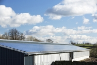 UK;solar;solar-power;solar-farm;solar-panel;PV;photo-voltaic;electricity;green;clean;carbon-neutral;climate-change;global-warming;innovative;novel;floats;renewable-energy;roof;barn;cow-shed;farm;Lancashire;construction;farming;carbon-footprint