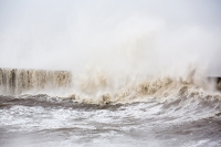 sea;sea-front;promenade;damage;destruction;storm-damage;Irish-sea;climate-change;global-warming;seafront;power;powerful;weather;extreme-weather;storm-surge;infrastructure;road;high-tide;inundated;salt-water;tidal;tidal-surge;Cumbria;UK;Whitehaven;harbour;shelter;storm;wind;windy;storm-force;wave;waves;crashing;white-water;breakers;breaking;breakwater;eroded;erosion;coastal-erosion;harbour-wall;battered;battering;power;powerful;crash;crashing;West-Coast;Atlantic;overwhelmed;breached
