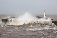 sea;sea-front;promenade;damage;destruction;storm-damage;Irish-sea;climate-change;global-warming;seafront;power;powerful;weather;extreme-weather;storm-surge;infrastructure;road;high-tide;inundated;salt-water;tidal;tidal-surge;Cumbria;UK;Whitehaven;harbour;shelter;storm;wind;windy;storm-force;wave;waves;crashing;white-water;breakers;breaking;breakwater;eroded;erosion;coastal-erosion;harbour-wall;battered;battering;power;powerful;crash;crashing;West-Coast;Atlantic;lighthouse