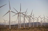 USA;US;America;California;Mojave-Desert;desert;electricity;generating;renewable;renewable-energy;wind-power;carbon-neutral;climate-change;global-warming;investment;clean-energy;technology;construction;green;green-energy;wind-turbine;wind-farm;Tehachapi-Pass