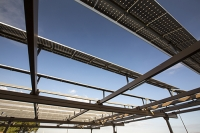 USA;US;America;California;drought;climate-change;global-warming;Kern-County;Kern-River;Bakersfield;car-park-college;shade;solar;solar-power;slar-panel;PV;photo-voltaic;electricty;renewable;renewable-energy