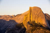 USA;US;America;California;tourist-attraction;light;sunlight;Yosemite-National-Park;Autumn;Fall;tree;mountain;forest;granite;dome;geology;Half-dome;Glacier-Point;Yosemite-Valley;sunset;shade;landscape;vista;viewpoint;icon;iconic;big-wall;cliff;pink;orange;glow;alpenglow;light;warm;dusk;sunset