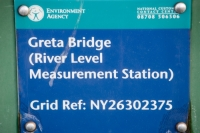 Keswick;Lake-District;Cumbria;UK;wall;stone;stone-wall;flood-plain;flood-embnkment;river;flood-defences;defences;construction;Environment-Agency;expense;expensive;protection;Greta;River-Greta;river-level;measuring-station;measurement
