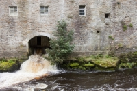 Aysgarth;Aysgarth-Falls;Yorkshire-Dales-Natioinal-Park;river;river;River-Ure;waterfall;cataract;white-water;peat;peat-staining;stained;orange;sediment;sediment-load;transportation;mill;water-power;mill-building