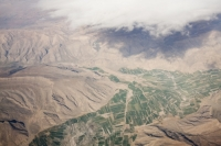 flight;flying;plane;airplane;aviation;Iran;middle-east;rock;mountain;geology;man;fields;crops;irrigation;aerial;aerial-photograph
