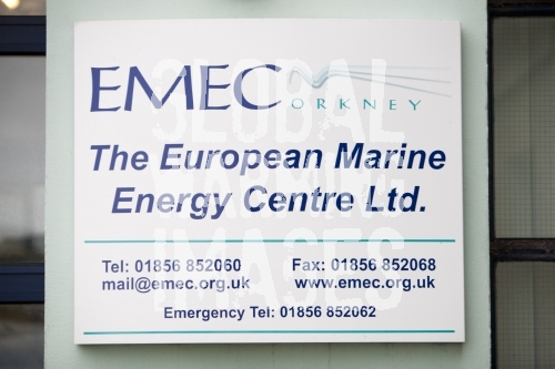 The EMEC centre in Stromness, Orkney, Scotland, UK. The European Marine Energy Centre is the only accredited wave and tidal energy test centre for marine renewable energy in the world.