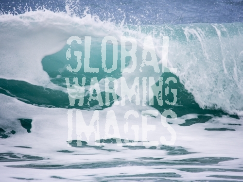 A breaking wave in Cornwall, UK.