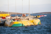 Orkney;Scotland;UK;coast;sea;power;energy;renewable;renewable-energy;wave-power;wave-energy;tidal-power;tidal-energy;EMEC;European-Marine-Energy-Centre;investment;technology;test-centre;testing;innovative;business;green;clean;environment;climate-change;global-warming;electricity;yellow;tidal-generation;wave-generation;yellow;Penguin;Wello;kinetic-energy;moored;mooring;Lyness;Hoy;craft;inmnovative;research-and-development;Pelamis