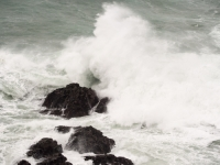 Cornwall;South-West;coast;island;island;rock;weathering;erosion;wave;wave-power;energy;breaking;breaking-wave;splash;spray;UK;Park-Head