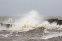 sea;sea-front;promenade;damage;destruction;storm-damage;Irish-sea;climate-change;global-warming;seafront;power;powerful;weather;extreme-weather;storm-surge;infrastructure;road;high-tide;inundated;salt-water;tidal;tidal-surge;Cumbria;UK;Whitehaven;harbour;shelter;storm;wind;windy;storm-force;wave;waves;crashing;white-water;breakers;breaking;breakwater;eroded;erosion;coastal-erosion;harbour-wall;battered;battering;power;powerful;crash;crashing;West-Coast;Atlantic